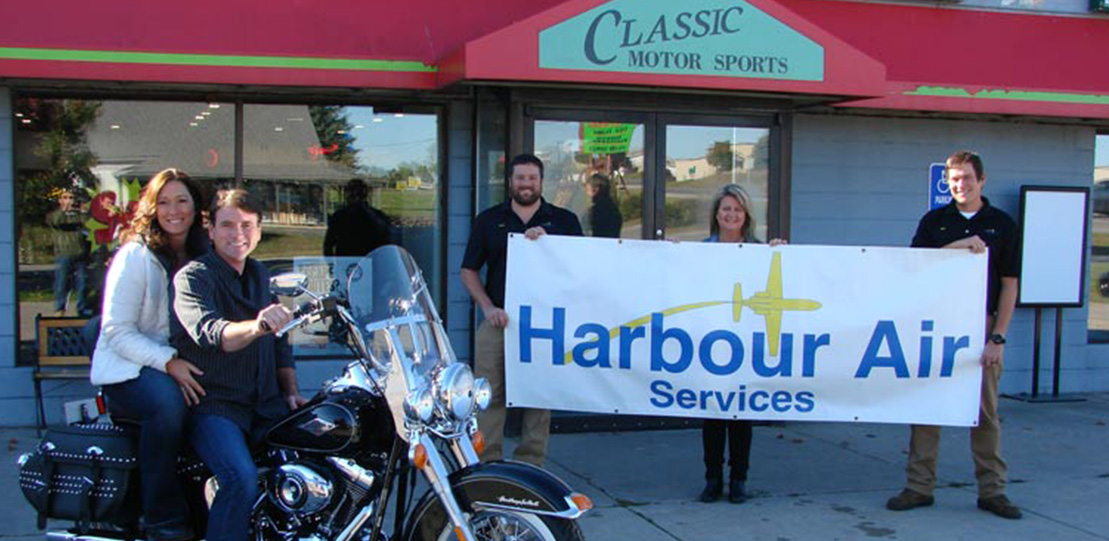 Harbour Air Services Gives Away Heritage Harley
