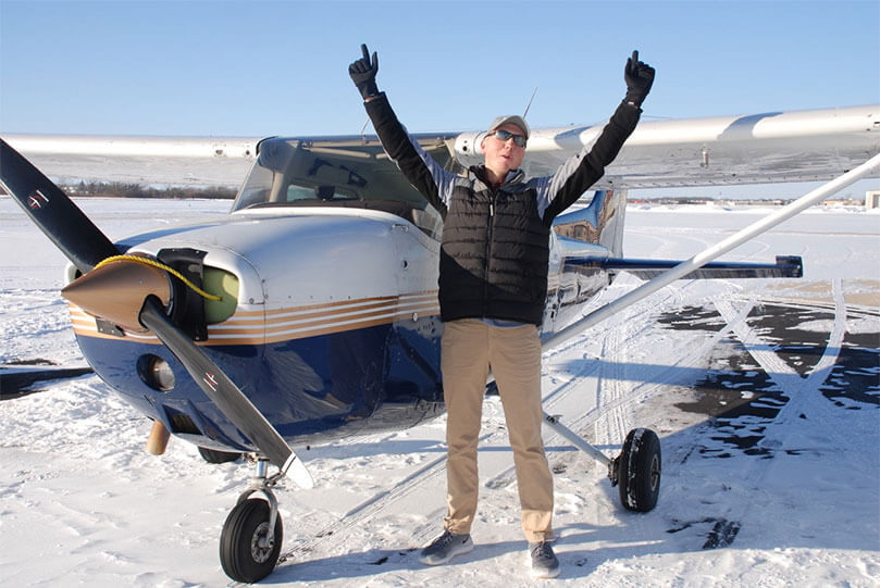 Phillips 66 Aviation EAA Flight Training Award Winner Has Earned His Wings!