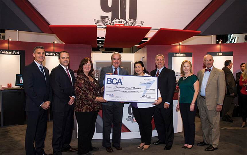 Phillips 66 Aviation Hosts Check Presentation at NBAA-BACE to Benefit Corporate Angel Network